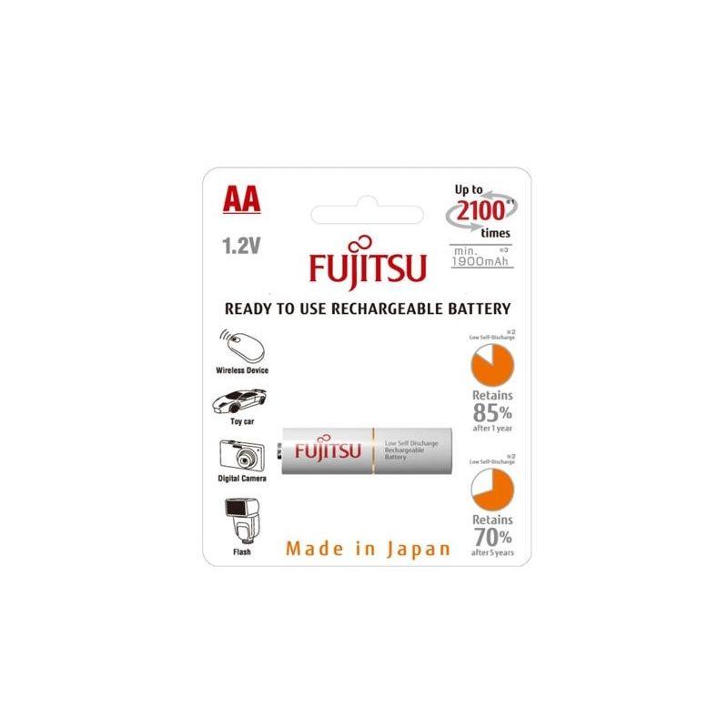 Bateria recarregável Fujitsu AA 2000mAh Ni-Mh