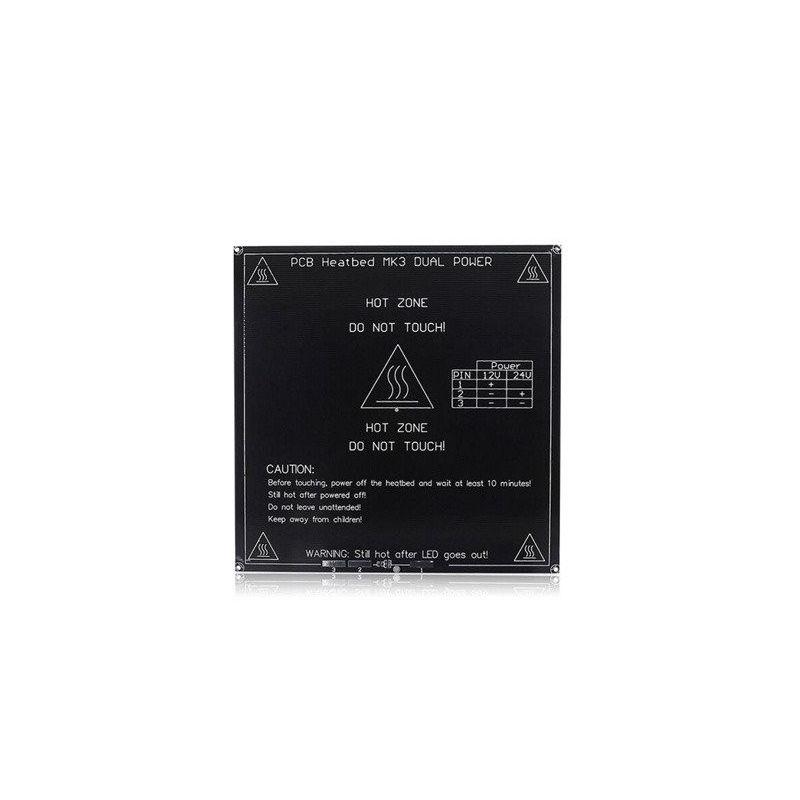 Cama Caliente MK3 PCB Alu 3mm 12V 24V Impresora 3D Reprap