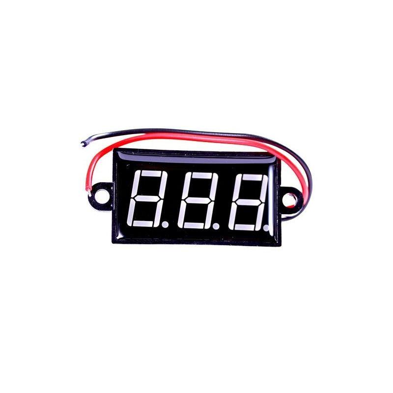 Voltmeter LED Waterproof Digital Display Red 3,5V 30V 0,56