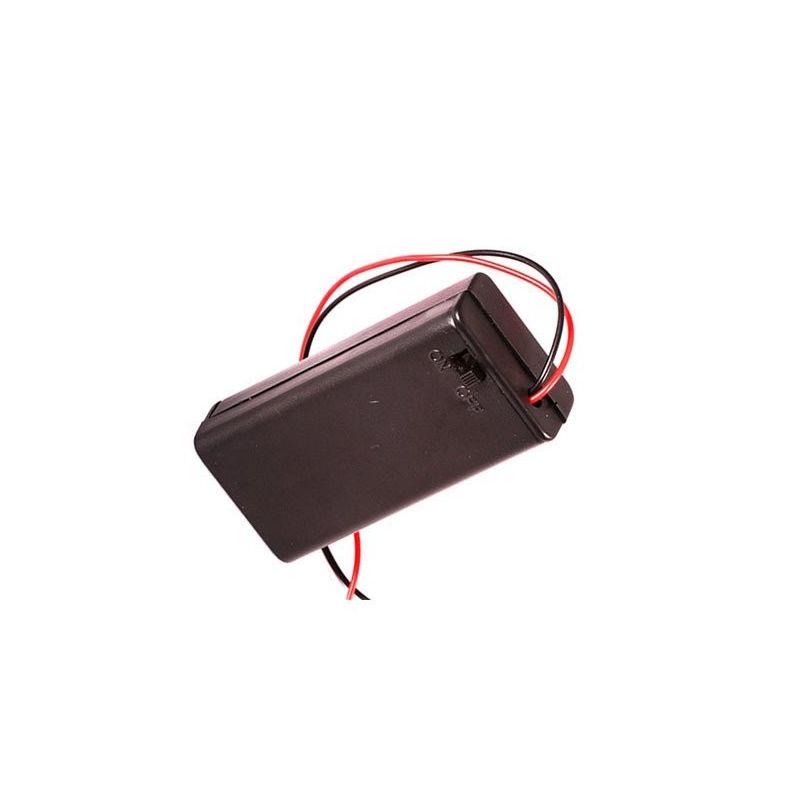 Porta-baterias 2x AA 2 baterias com interruptor