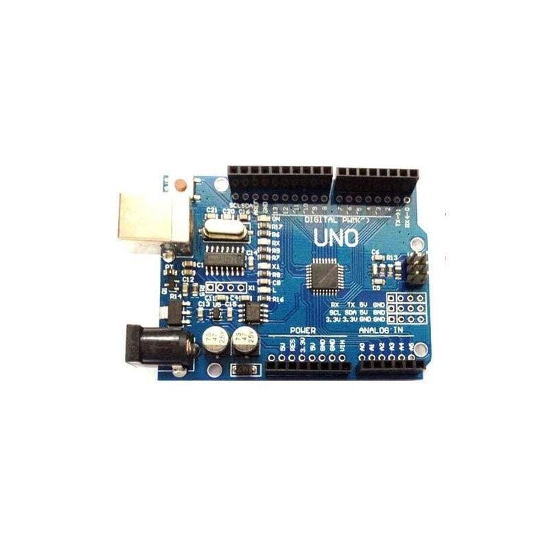 Placa UNO CH340  + Pines + Cable USB compatible Arduino