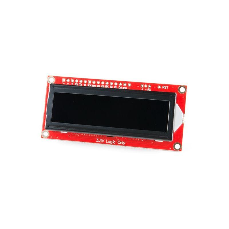 SparkFun Pantalla 16x2 SerLCD - RGB en Negro 3.3V