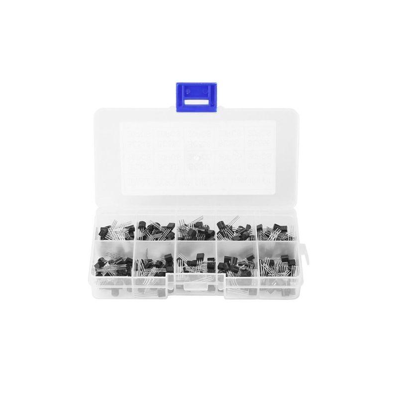 200Pcs TO-92 NPN PNP Bipolar Silicon Transistor 10 Value Assortment Kit
