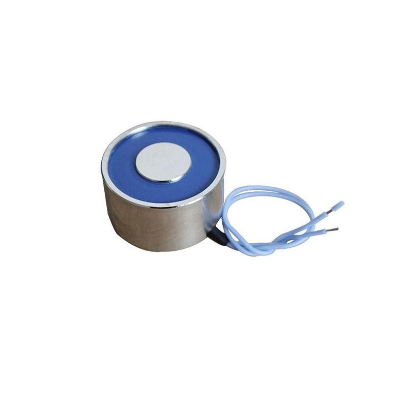 Electroimán 12 Vcc - Ventosa Electromagnética con Retención 20 kg- Ø40 × 20 mm