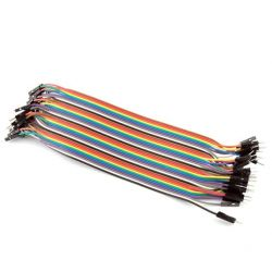 10x Male-Male Cables 20cm Jumpers Dupont 2,54