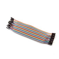 10x Female-Male Cables 20cm Jumpers Dupont