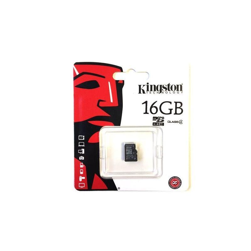 Cartão de memória 16GB Kingston MicroSD Classe 4