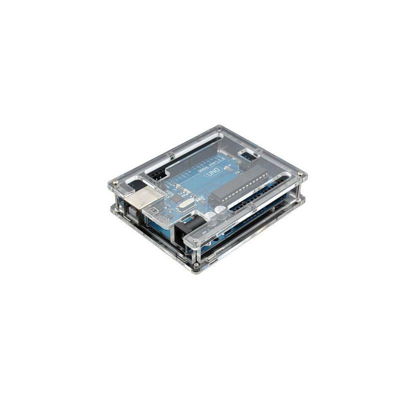 Arduino compatible UNO R3 board + transparent acrylic box DIY