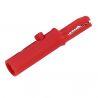 Clip de Cocodrilo KK1 Color Rojo con Conector Banana