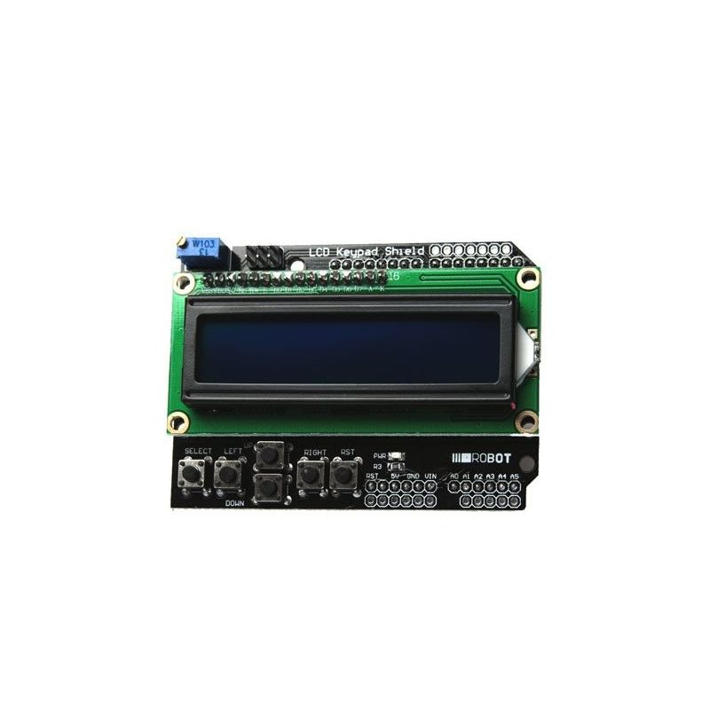 Keyboard Shield 16x2 LCD screen for Arduino