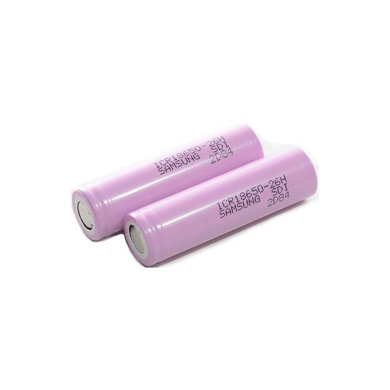 Bateria recarregável Samsung 18650 2600mAh Li-ion 3.63V