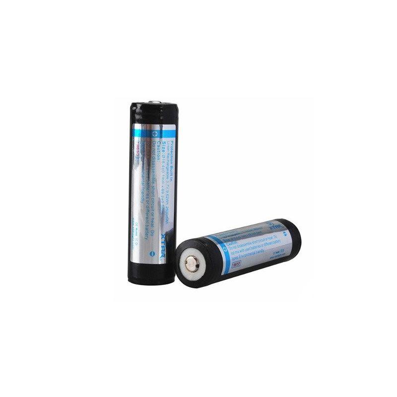Bateria recarregável XTAR 18650 2600mAh Li-ion