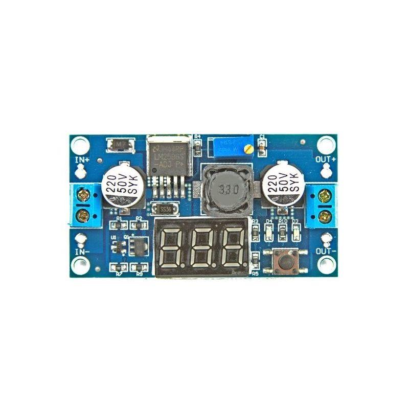 Conversor de voltimetro DC LM2596 para DC Step-down 4.5-38V para 1.25-36.5V 3A Tensge regulador