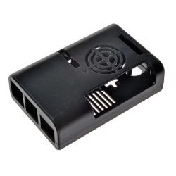 Black box with fan for...