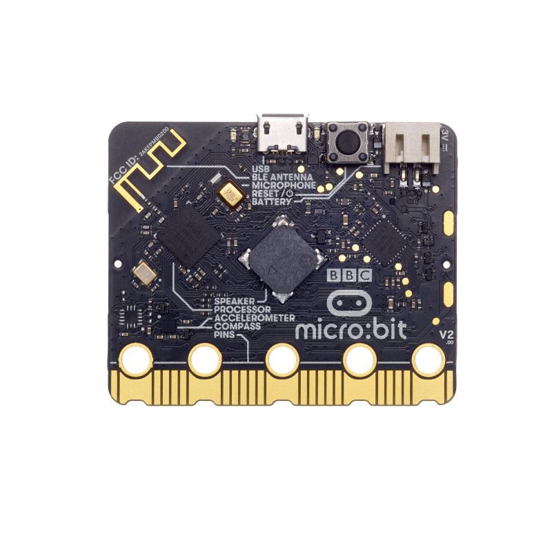 Micro:bit BBC v2 - WiFi Single Board Micro-Computer, BLE 5.0, Microphone + Speaker + Accelerometer