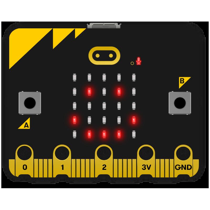 Micro:bit BBC v2 - Microordenador Monoplaca WiFi, BLE 5.0, Micrófono + Altavoz + Acelerómetro