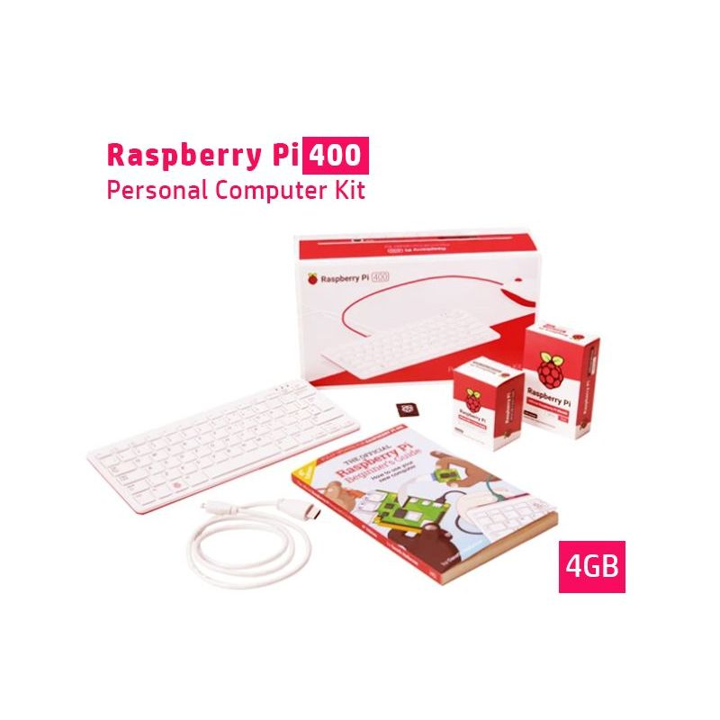 Kit Raspberry Pi 400 Personal all-in-one Computer on keyboard Kit