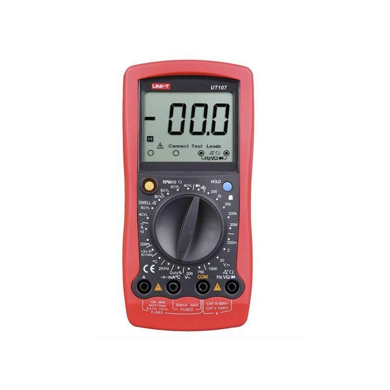 Multímetro digital para automóvil LCD UNI-T UT107 Rojo