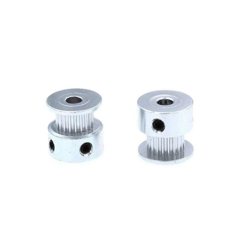 Polia GT2 20 dentes 5mm impressora roldana de alumínio 3D Reprap