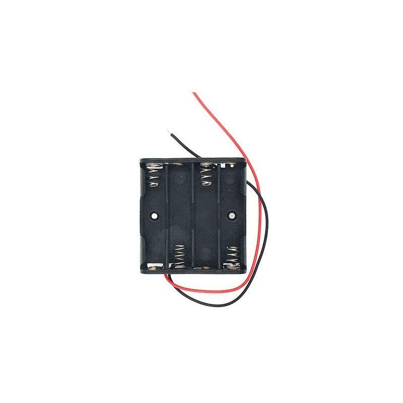 Portapilas 4x AAA  Porta 4 Pilas 6V