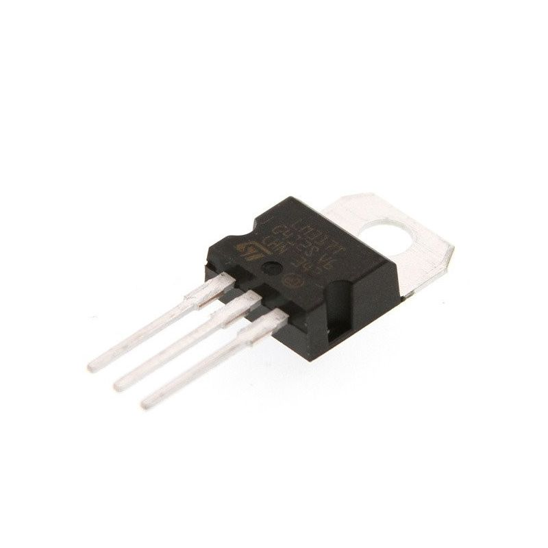 LM317T Regulador de voltaje 1.2V - 37V 1.5A TO-220