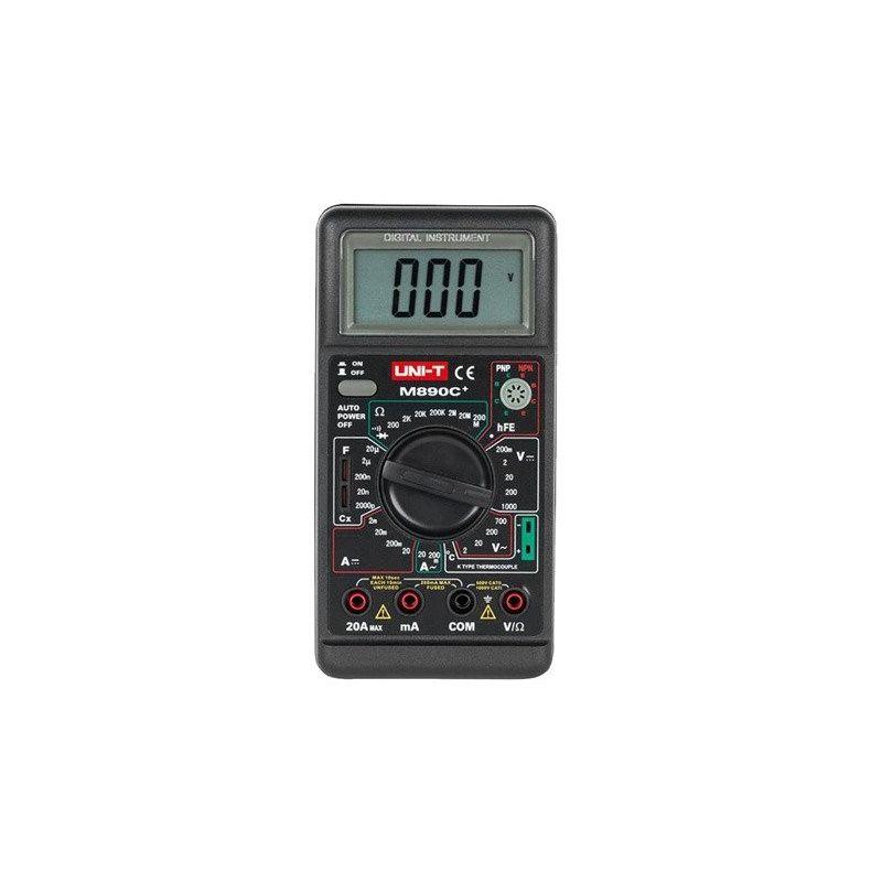 Multimetro digital UNI-T 890c+ Ammeter Voltmeter AC DC Ohm C Buzzer