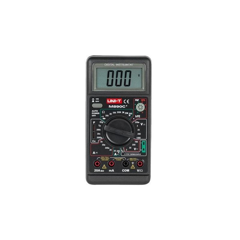 Multimetro Digital UNI-T 890c+ Amperímetro Voltímetro AC DC Ohm C Buzzer