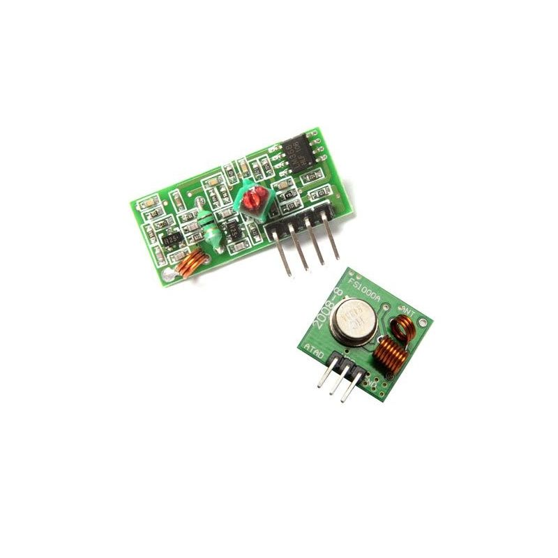 Receptor RF + Módulo emissor para Arduino sem fio RF de 433MHz