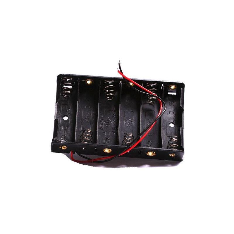 Suporte de bateria 6x AA Porta 6 Baterias