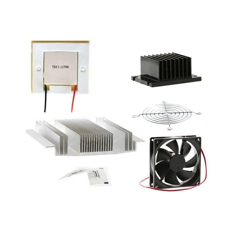 Peltier Cell Kit Ventilador Aquece pasta térmica TEC1-12706 12V 60W