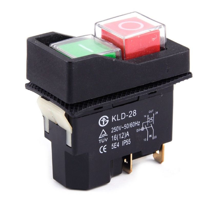 Electromagnetic switch - emergency start/stop KLD-28 16A / 250V