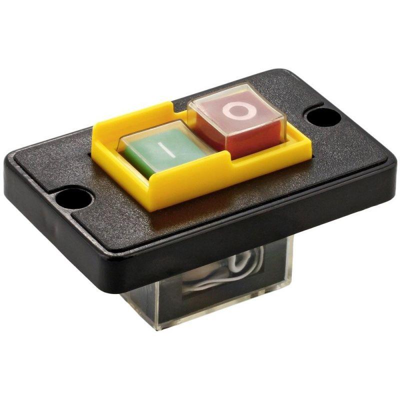 Electromagnetic switch - emergency start/stop KJD6 6A / 250V WITH FRAME