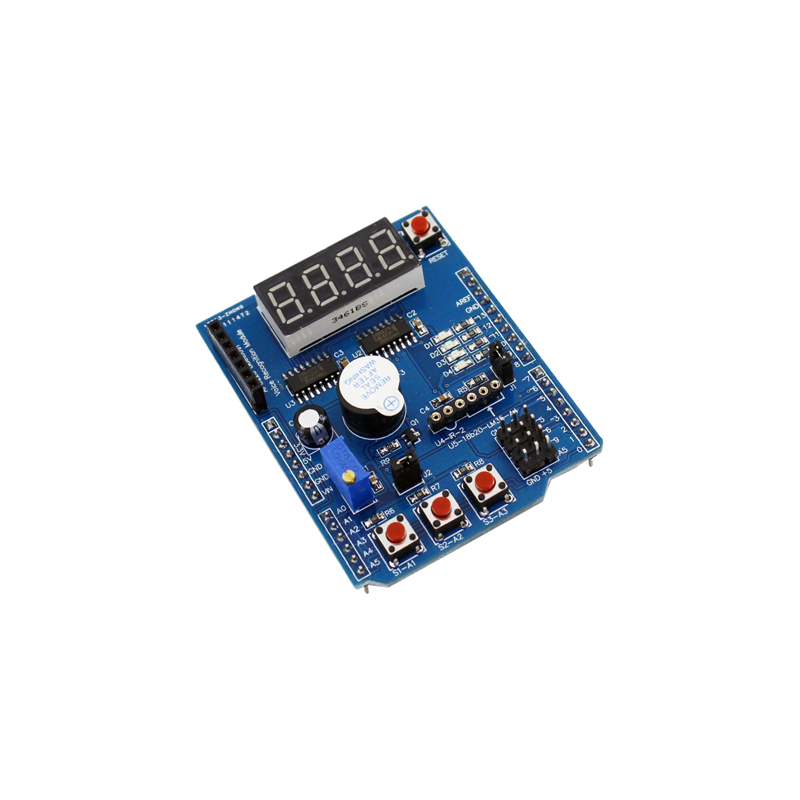 Arduino Multifunction shield - Display, LEDs, pushbuttons, buzzer