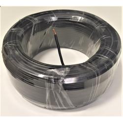 100m rigid cable, black PVC...