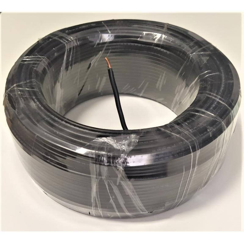 100m rigid cable, black PVC wire, 2.5mm2 flame retardant