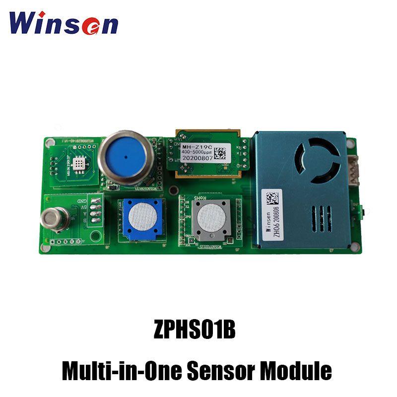 All-in-one air quality sensor ZPHS01B: CO2, PM2.5, CH2O, O3...