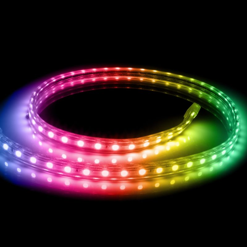 WS2812B Preto RGB LED Strip 1m 30 LED/M IP65