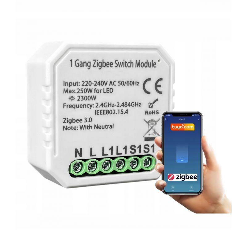 Tuya Smart - 1 Channel ZigBee 3.0 Flush Relay