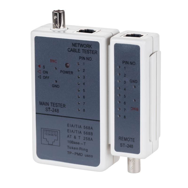 RJ-45 and BNC network cable tester - G248
