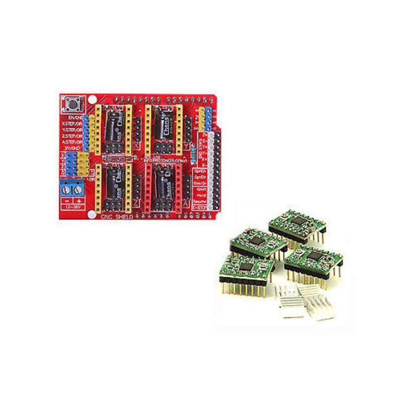 Placa de expansão do escudo CNC + impressora 3D Stepstick 3D 4x A4988