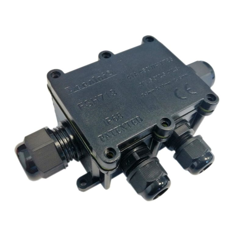 Waterproof Electronic ABS Plastic Junction Prototype Box 80x57x41mm IP65 4 Outs