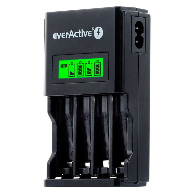 Charger for 4 Ni-MH R6/AA,R03/AAA Rechargeable Batteries everActive NC-450