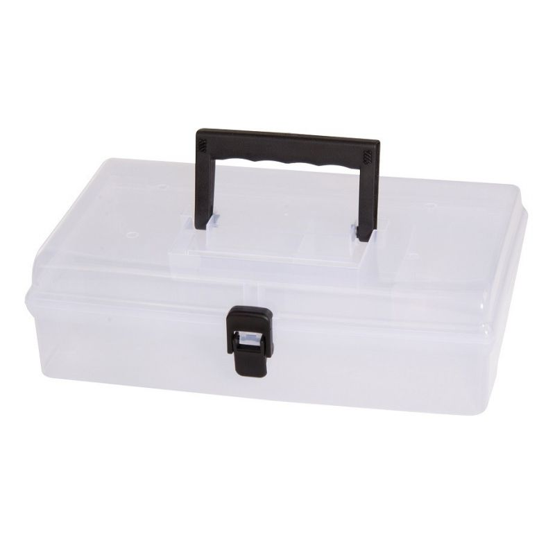 Organiser briefcase box with handle, 5 compartments, 245x150x85mm