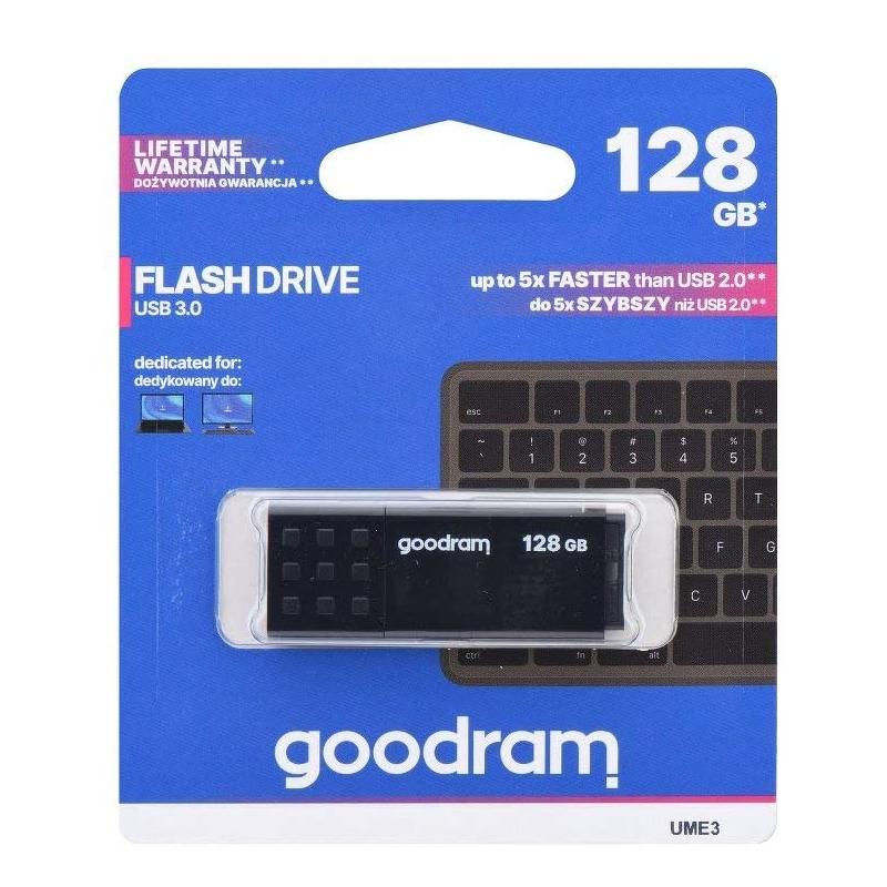 Pendrive USB 128GB GoodRam UME3-1280K0R11 USB 3.0 Black
