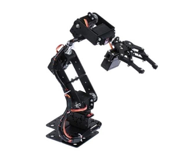 Brazo robotico de aluminion con 6 ejes